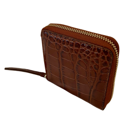 Stockholm Atelier & Other Stories Embossed Leather Zip Wallet