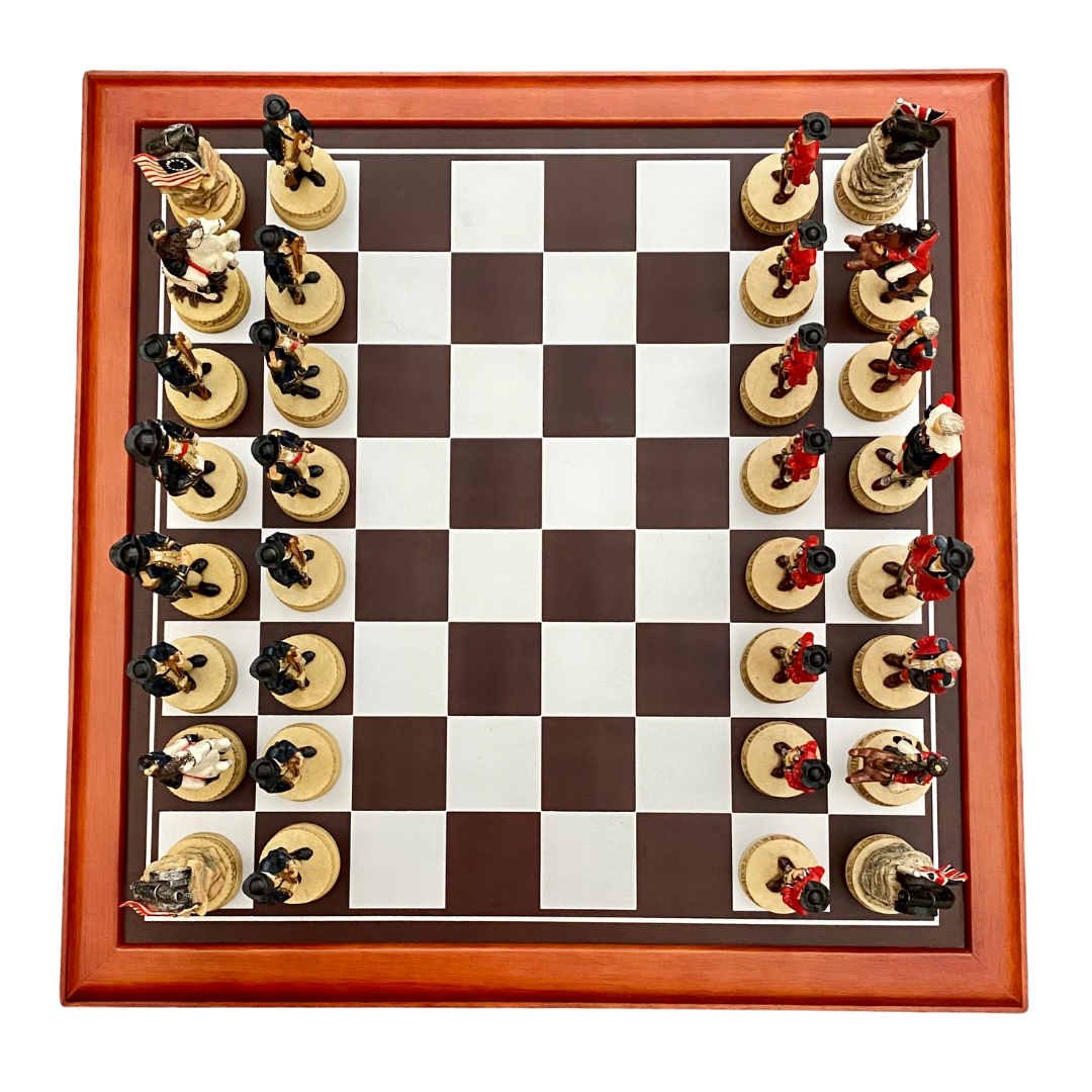 Summit Collection American Revolution Chess Set & Board