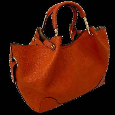 Sondra Roberts Squared Tangerine Shoulder Handbag with Handles