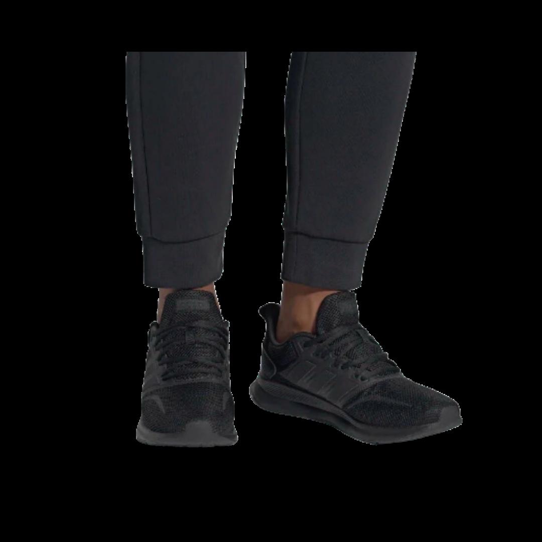 Adidas RUN FALCON K Black Running Shoe Youth 4 Women's 6