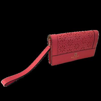 Kate Spade New York Pink Eyelet Perri Lane Linney Wristlet Wallet