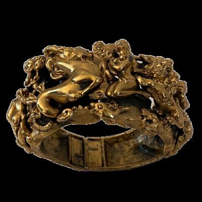 Tortolani Zodiac Horoscope Vintage Bracelet Cuff