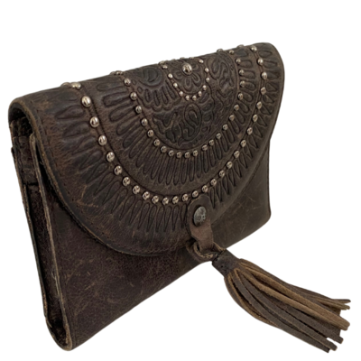 Patricia Nash Italian Leather Western Studded Wallet/Clutch Purse