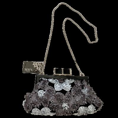 MMS Design Studio Floral Fabric Crossbody Evening Clutch Purse