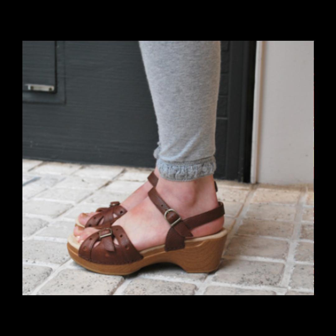 Dansko Buckle Sissy Sandal Shoe Women's 37