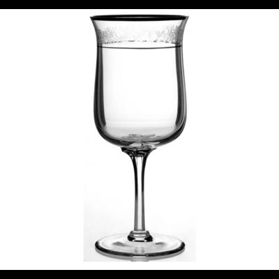 LENOX Water Goblet Moonspun Platinum Trim Glassware Set of 8