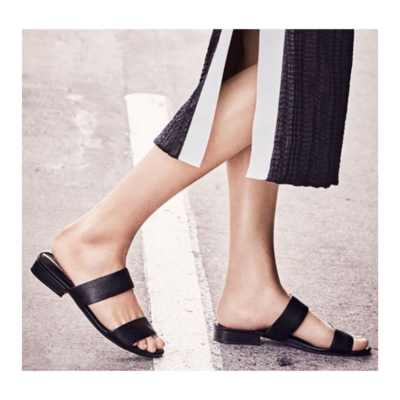 Kenneth Cole New York Viola Flat Sandal Shoe Women's 9