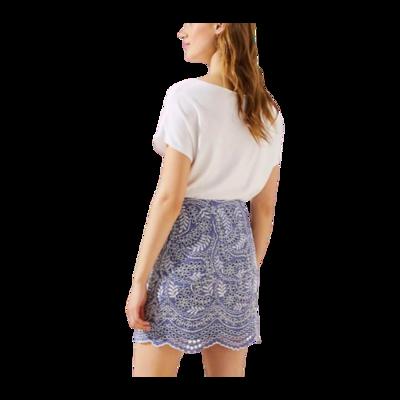 Ann Taylor LOFT Blue Scalloped Embroidered Eyelet Skirt Women's 0P
