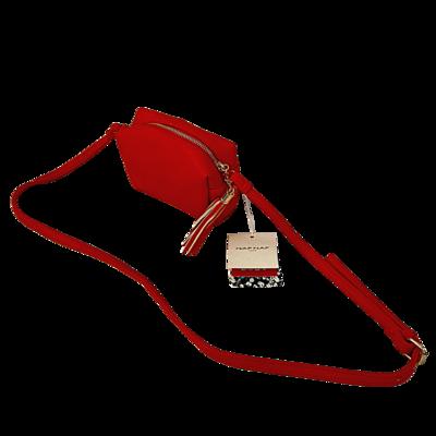 NAF NAF Paris Tassel Zipper Pull Crossbody Purse