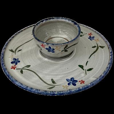 Owens Original Pottery Seagrove, NC Serving Plate & Bowl