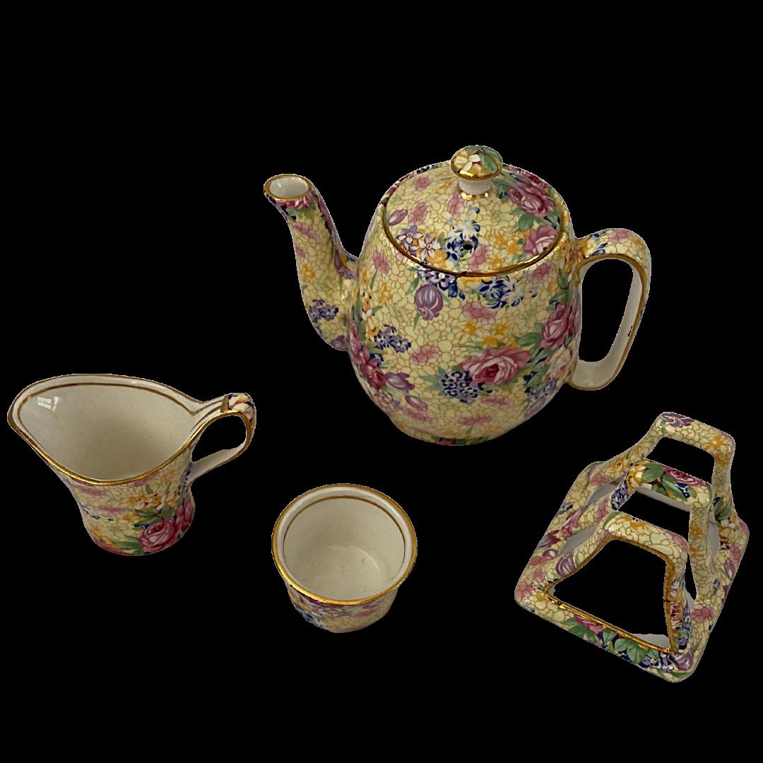 Royal Winton Welbeck Grimwades Ltd. Made in England 1995 Chintz Breakfast Tea Set