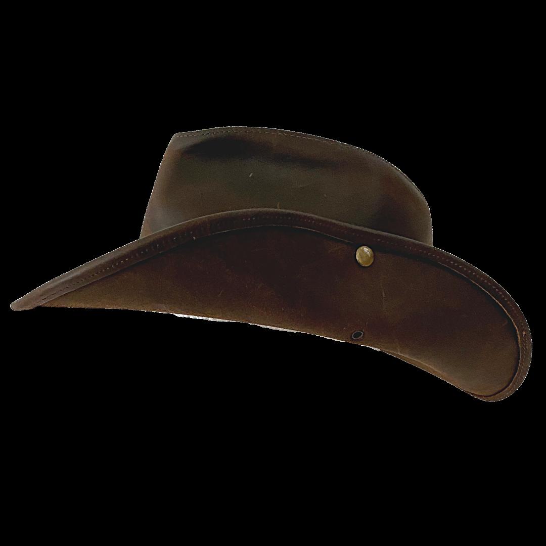 HENSCHEL HATQUARTERS USA Leather Safari Hat Men's XL