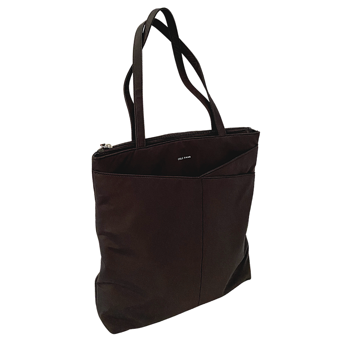Cole Haan Black Nylon Two Compartment Tote Bag