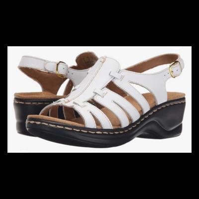 Clarks® Lexi Marigold White Sandal Women's 9.5