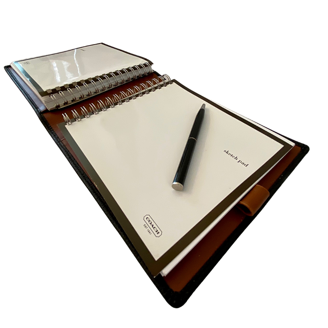 COACH Leather Journal & Sketch Pad