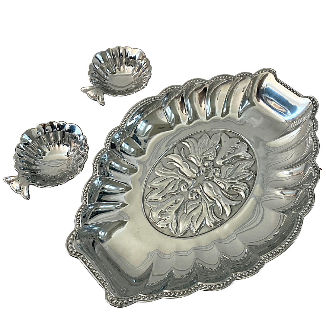 LENOX Butler's Pantry Chip & Dip Metal Serveware Set