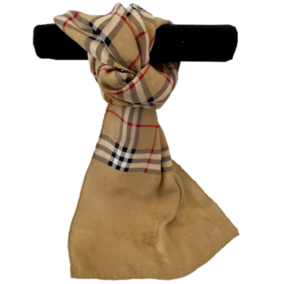 Burberrys Vintage 100% Silk Italian Made Long Scarf