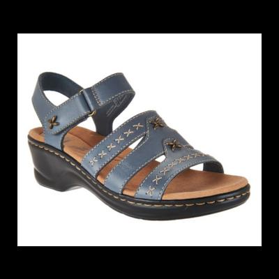 Clarks® Lexi Evelyn Denim Blue Sandal Women's 9.5