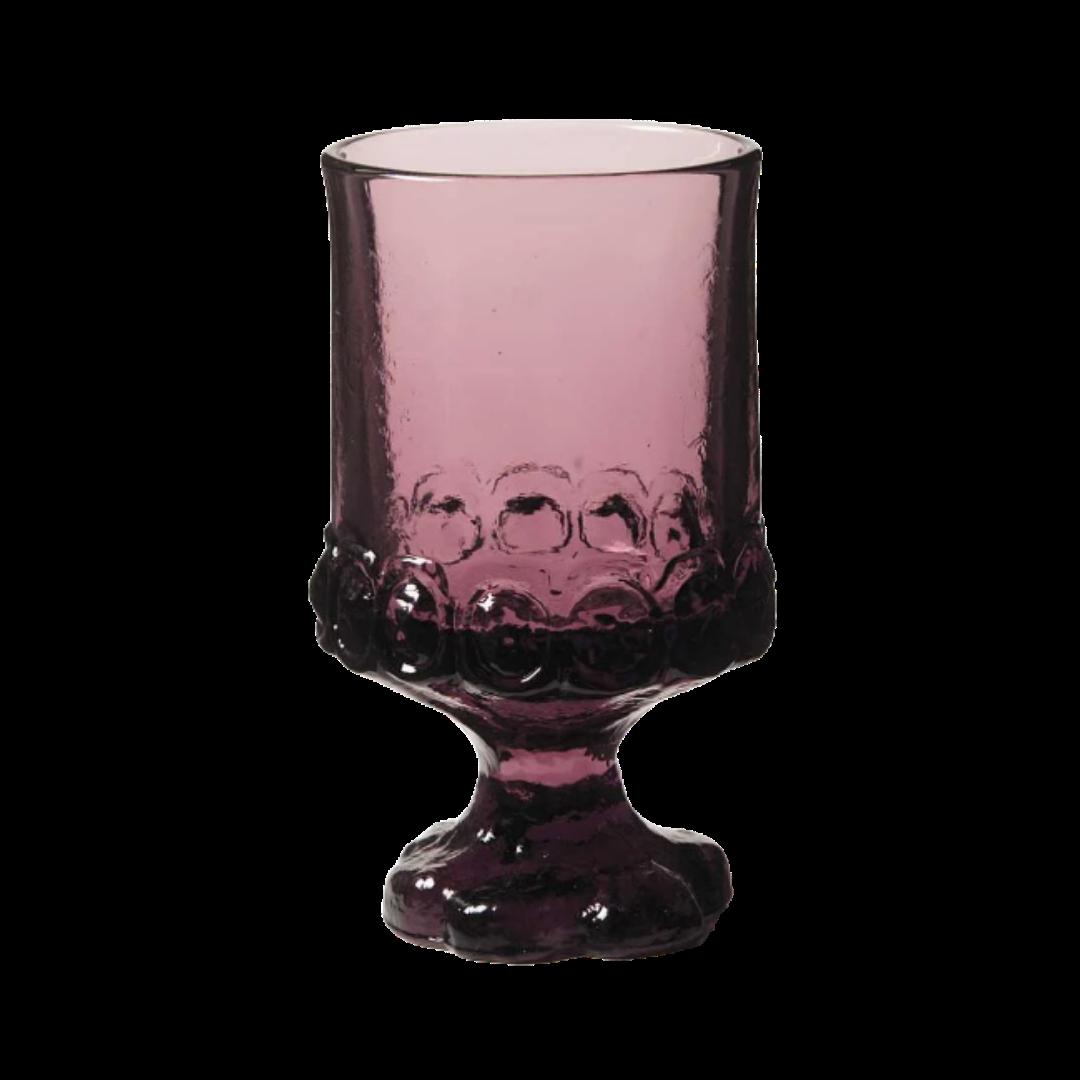 Tiffin Madeira Vintage Plum By Franciscan Stemmed Water Glassware Set of 6