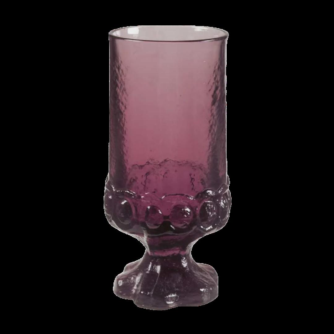 Tiffin Madeira Vintage Plum By Franciscan Stemmed Ice Tea Glassware Set of 6