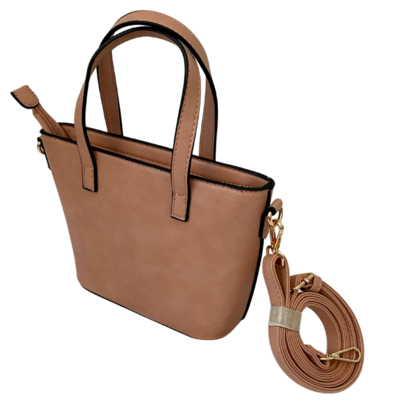 Vegan Bucket Bag with Crossbody Strap