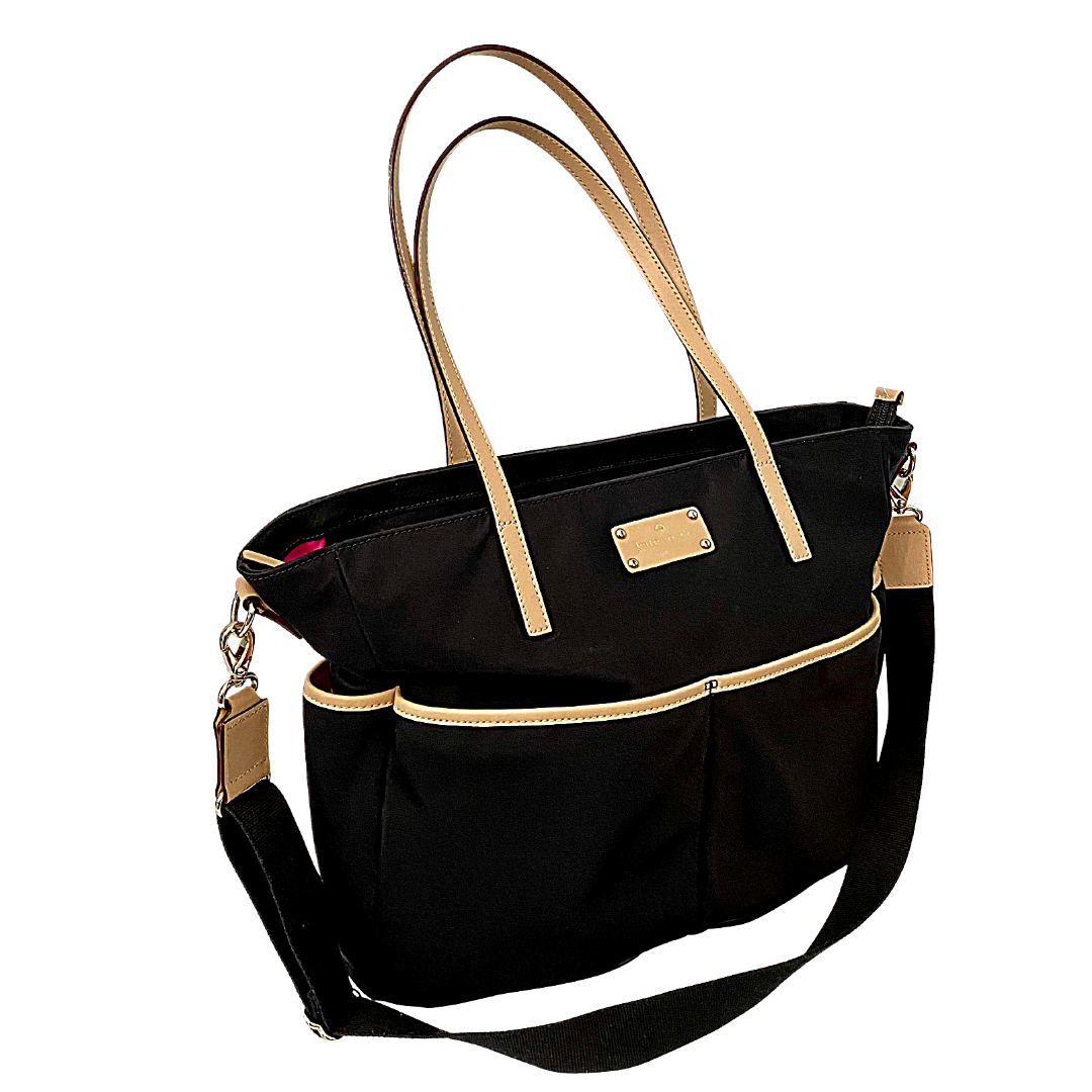 Kate Spade New York Two-Tone Large Tote with Crossbody Strap