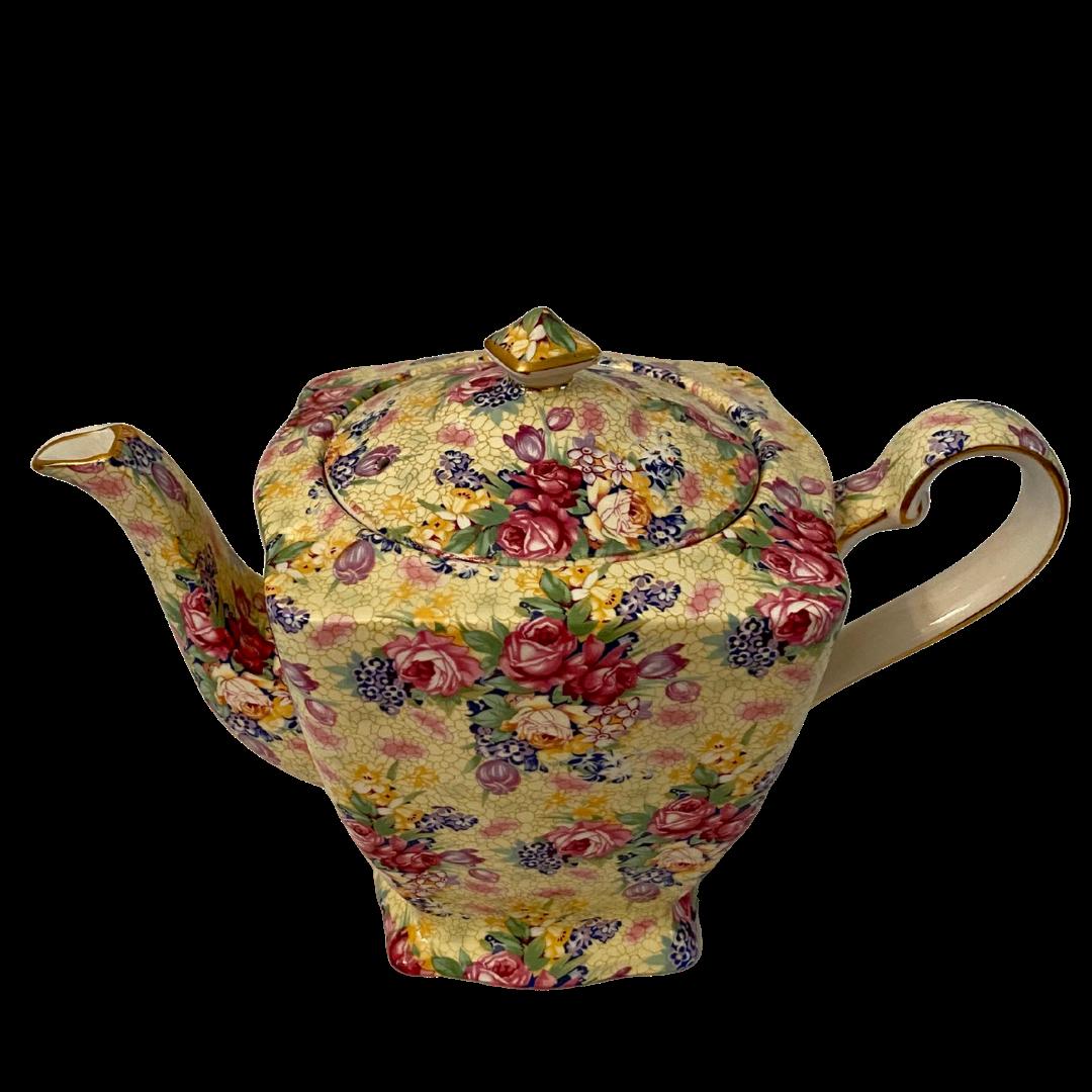 Royal Winton Welbeck Grimwades Ltd. Made in England 1995 Chintz Ascot Teapot & Lid