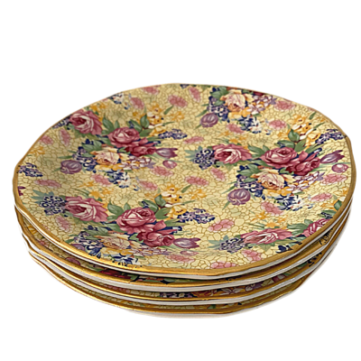 Royal Winton Welbeck Grimwades Ltd. Made in England 1995 Chintz Four Saucers