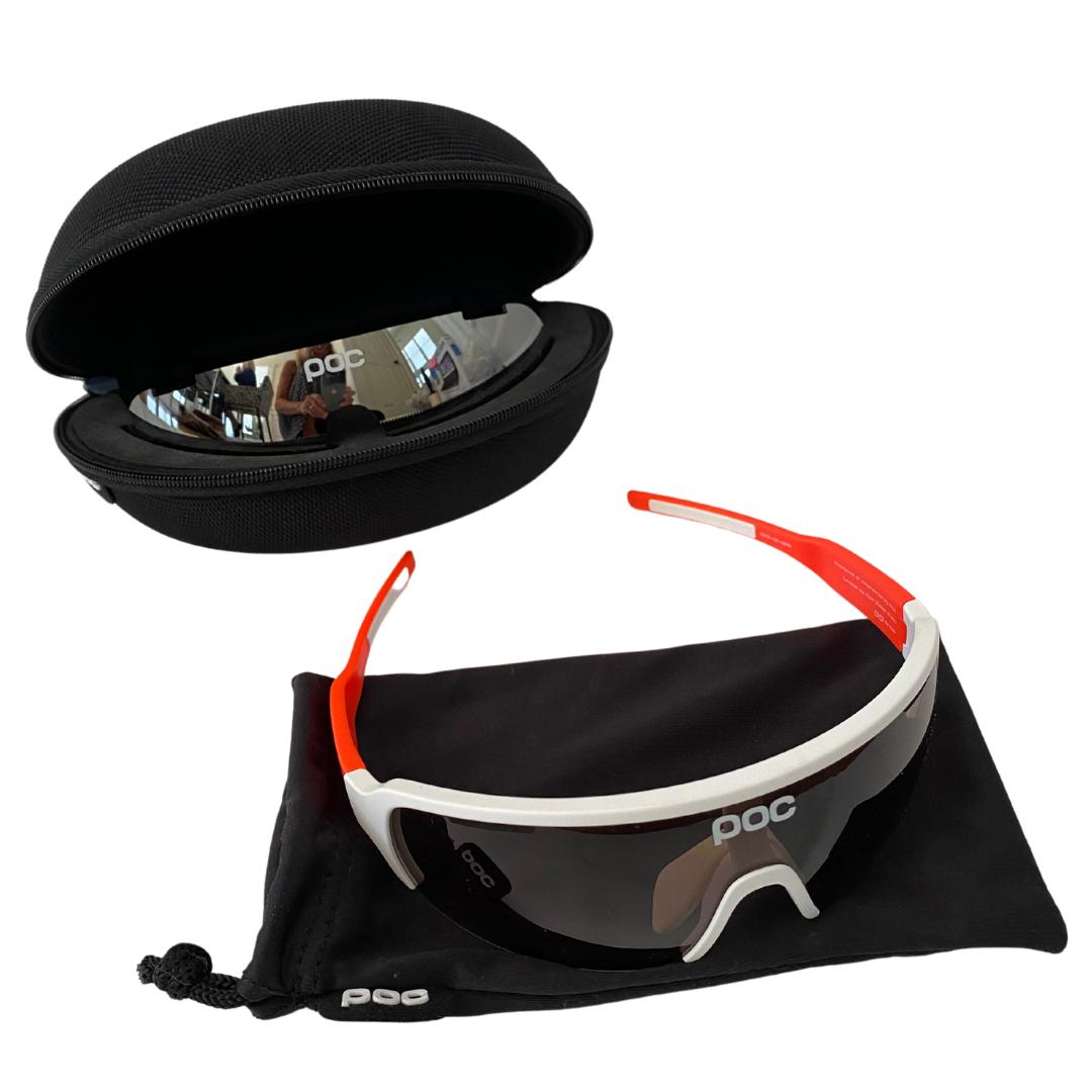 POC DO Blade AVIP Sunglasses Mirrored Lens & Hard Zipper Case Included