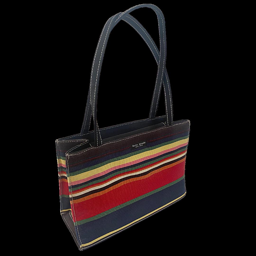 Kate Spade New York Multicolor Stripe Square Handbag