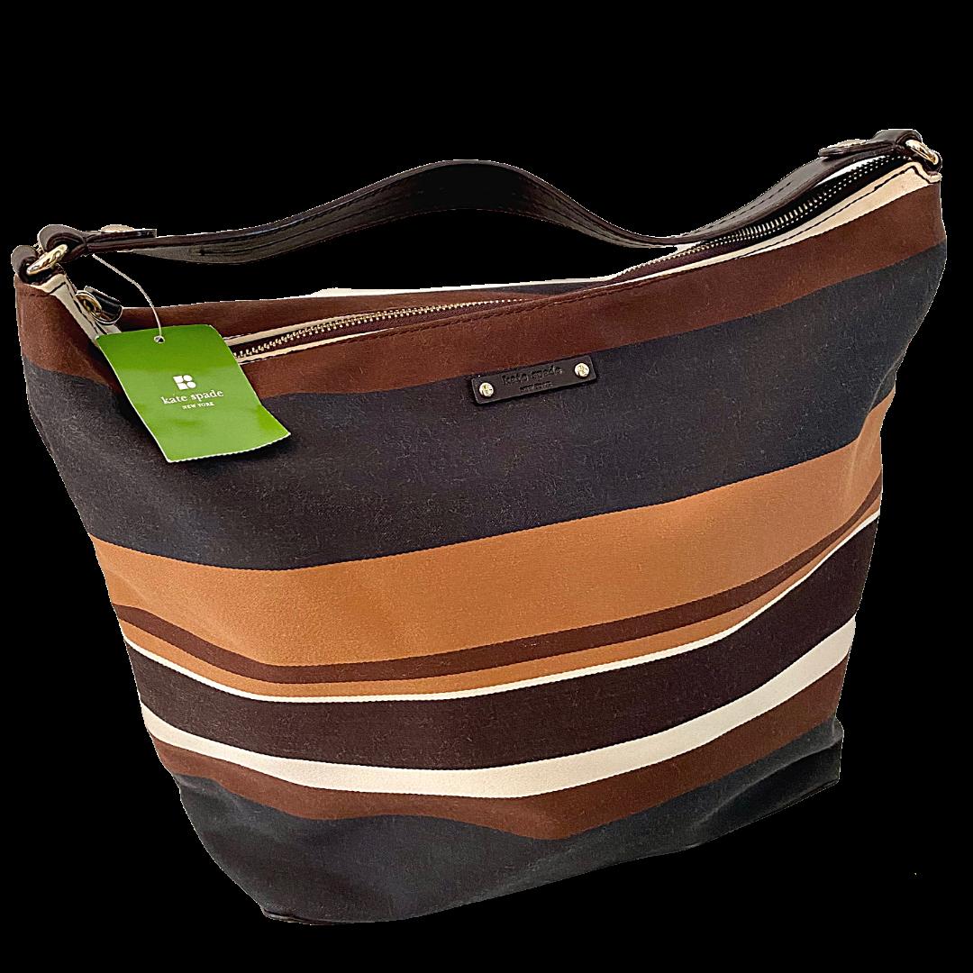 Kate Spade New York Striped Canvas Shoulder Handbag