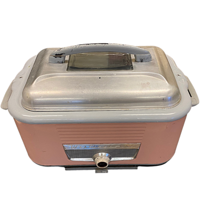Westinghouse Electric Roaster Oven Rare Vintage 1950's Pink Color