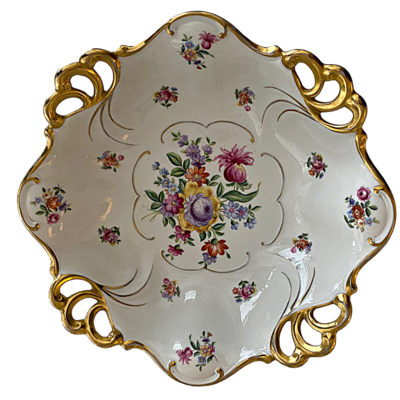 JLMENAU Graf Von Hennerberg Made in Germany Vintage Footed Porcelain Serving Dish