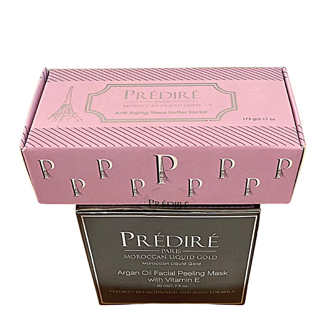PREDIRE Paris Morrocan Liquid Gold Peeling Facial Mask & Anti-Aging Soap