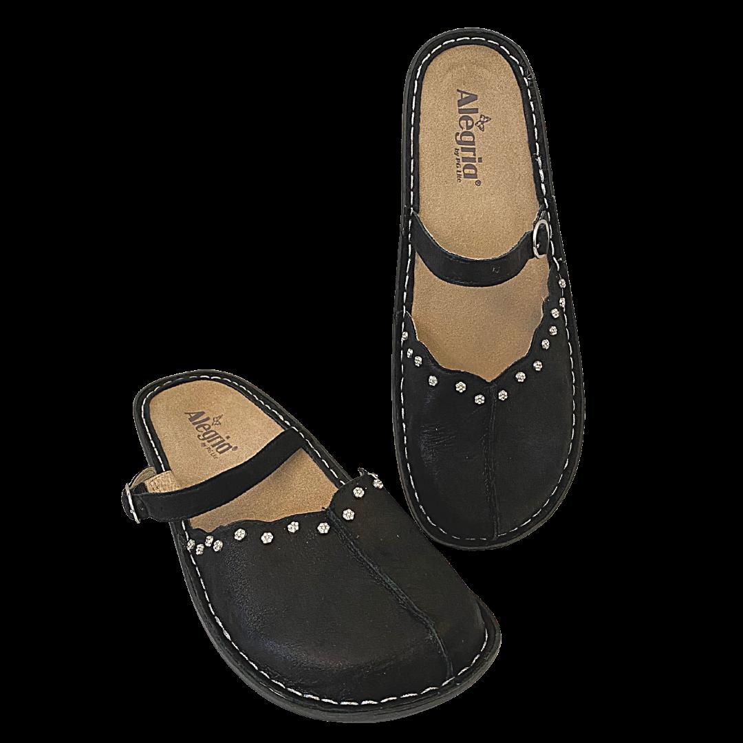 Alegria Tiffany Black Twinkle Shoe Women's 42