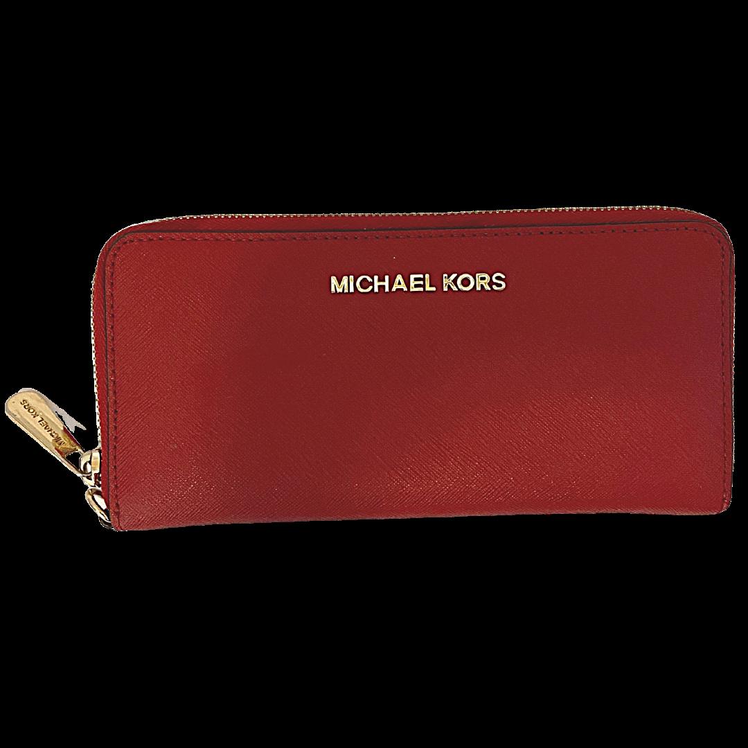 Michael Kors Zip Around Red Wallet