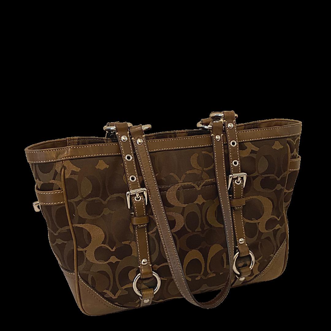 COACH Signature Brown Handbag 13053