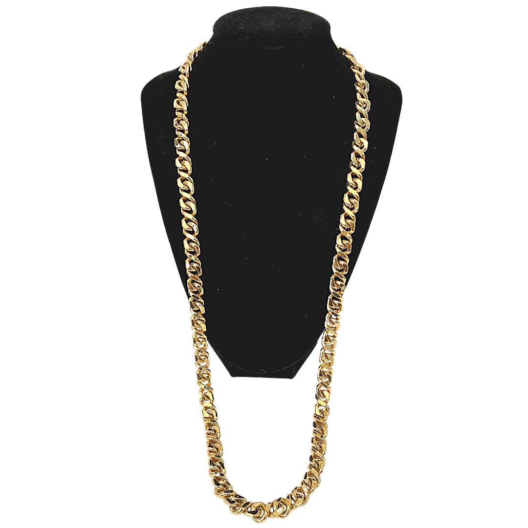"""Givenchy Chucky Link Signature Double G Logo Clasp Necklace 30"""""""