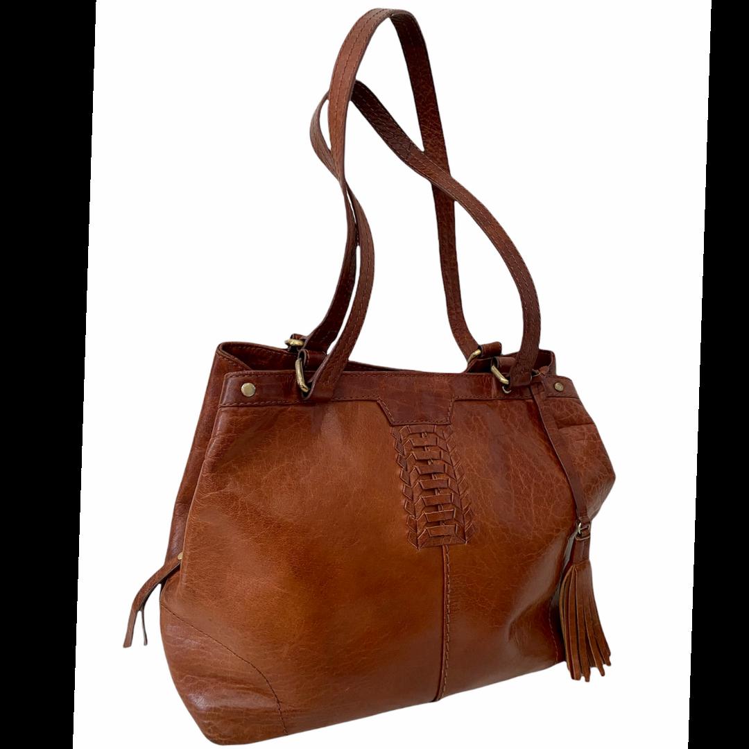 DIBA True For Real Life Braided with Tassel Handbag