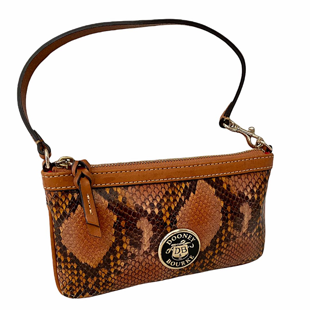 Dooney & Bourke Snakeskin Wristlet Wallet Mini Purse