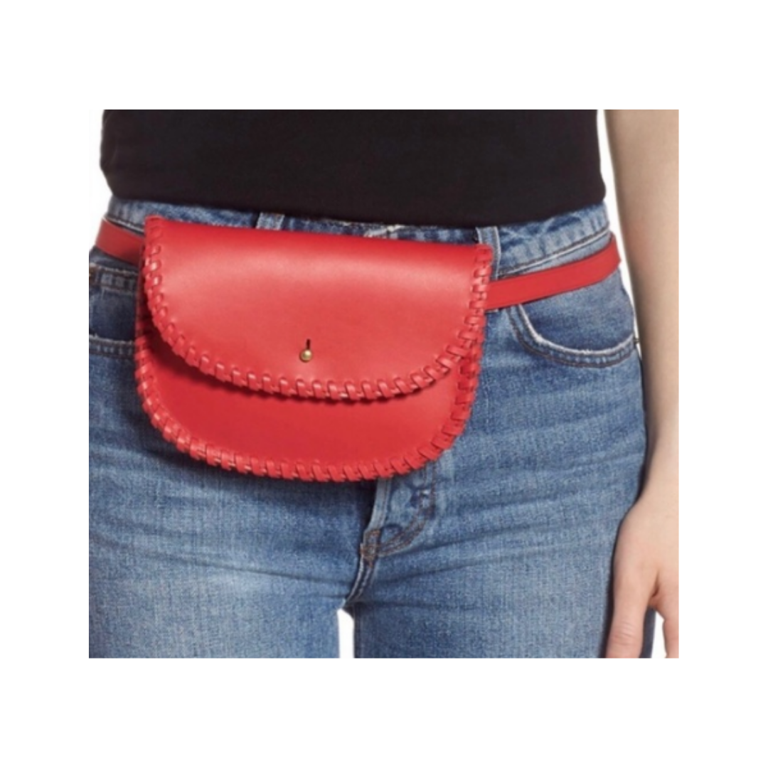 Madewell Genuine Leather Whipstitch Belt Bag Women's Medium