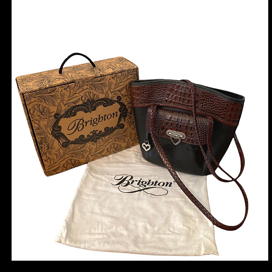 Brighton Heather Bucket Vintage Handbag