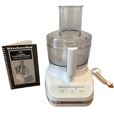 Kitchen Aid 9 Cup Food Processor & Accessories Made In France KFP500WWH