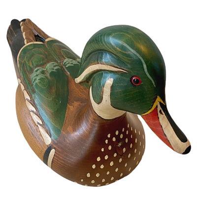 Duck Decoy Signed By Sally McMurray Ducks Unlimited Stamping