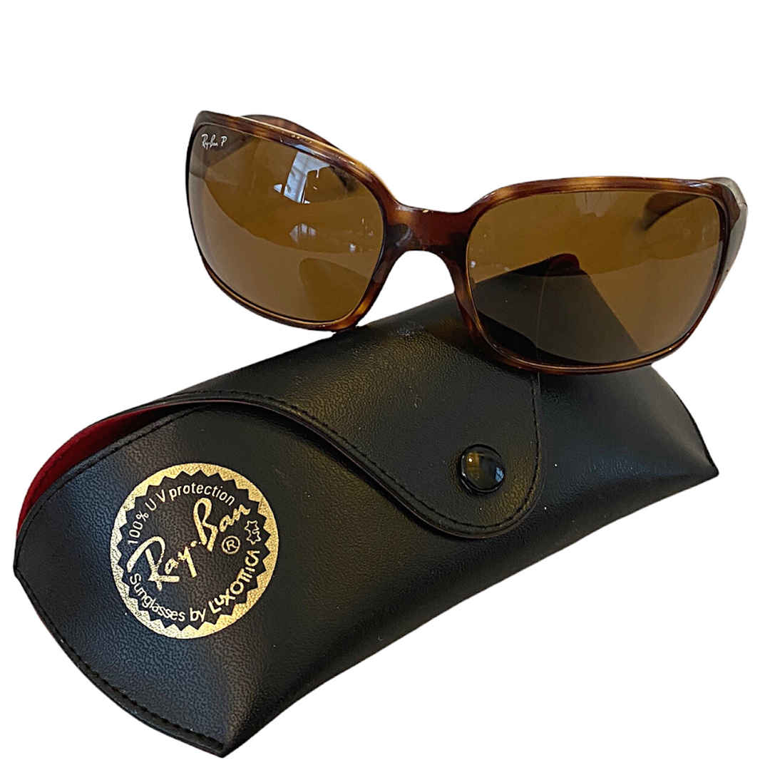 Ray Ban P Tortoise Sunglasses By Luxottica & Case