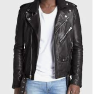BLK DNM NYC Leather Motorcycle Jacket Men's Large