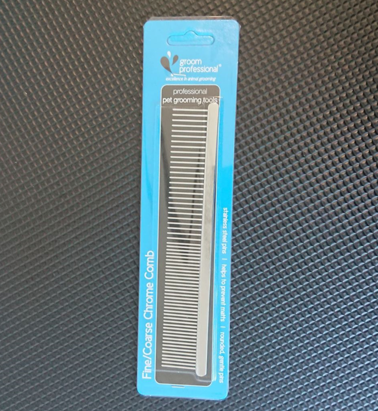 Fine/Course Chrome Comb