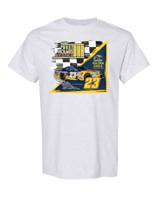 Front  Color Racing Logo Ash gray