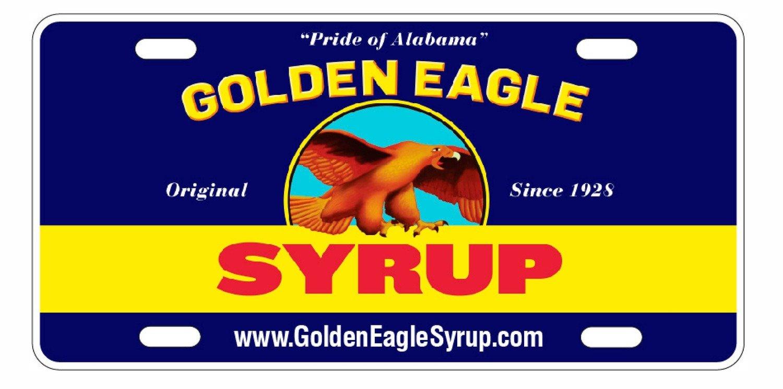 Golden Eagle Syrup Label License Plate