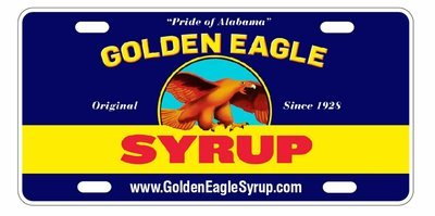 Golden Eagle Syrup Label License Plate